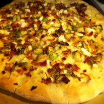 Brussels Sprouts, Bacon, Goat Cheese Pizza