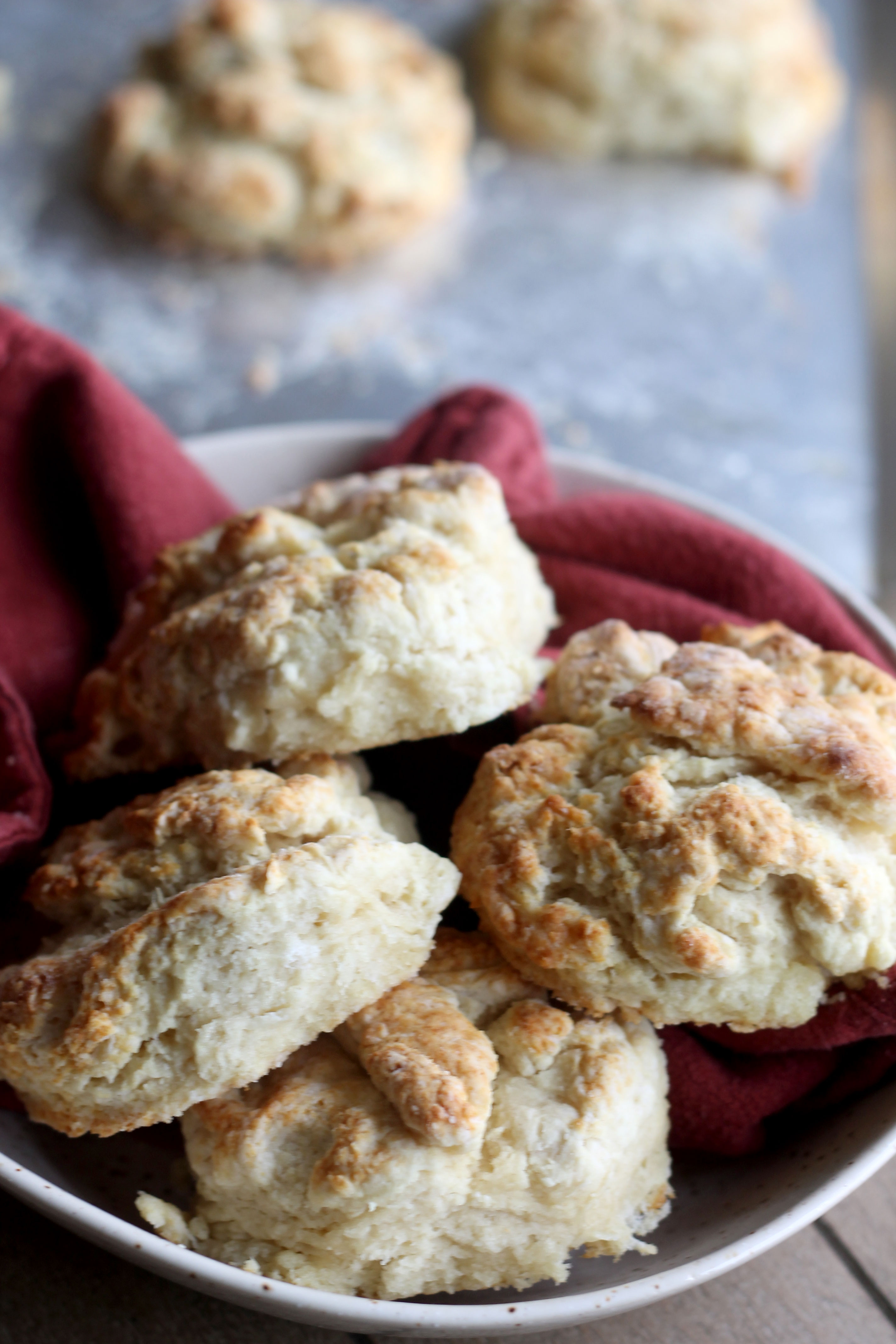 Fluffy and flaky buttermilk biscuits