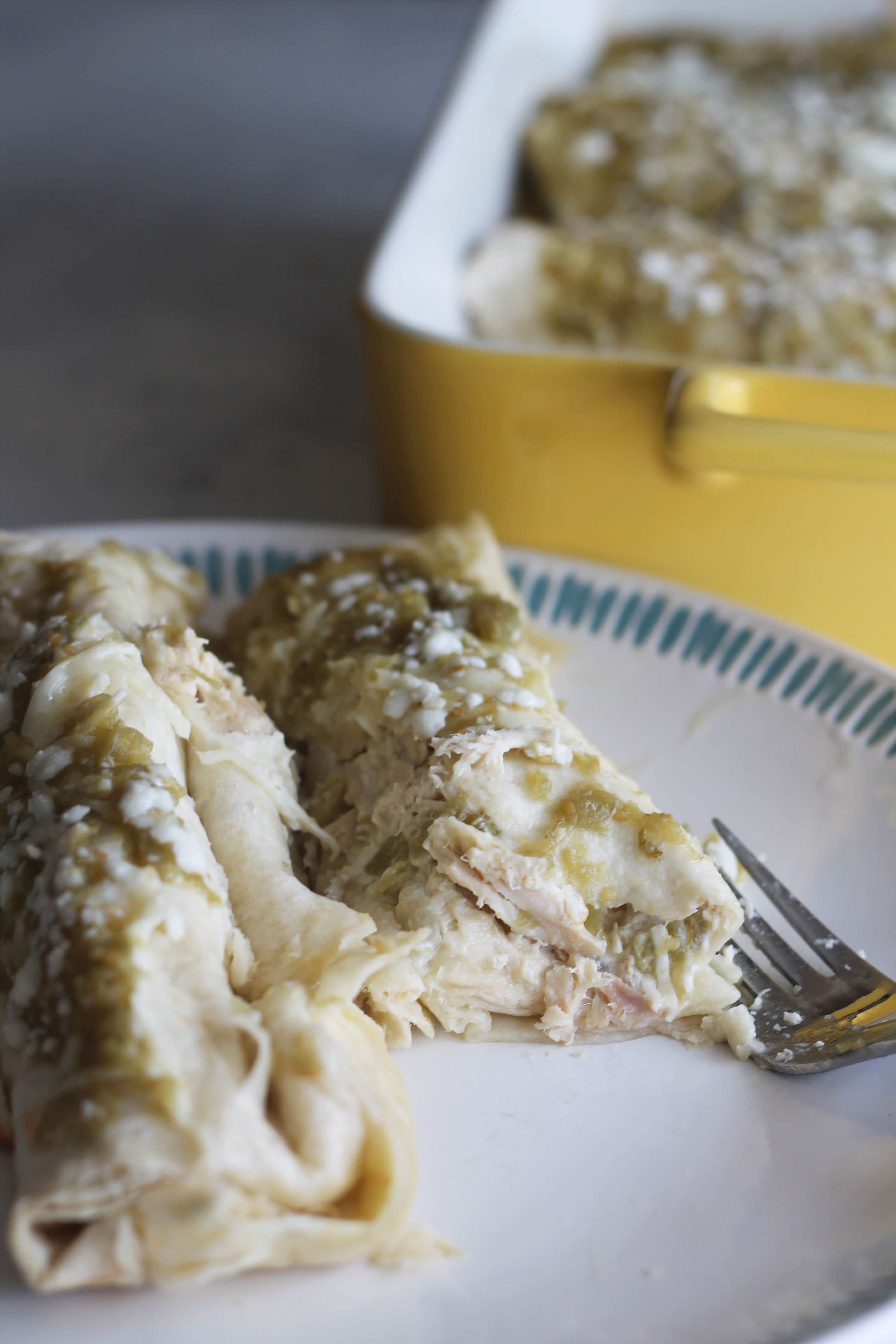 These enchiladas are without a doubt are the best chicken enchiladas ever!