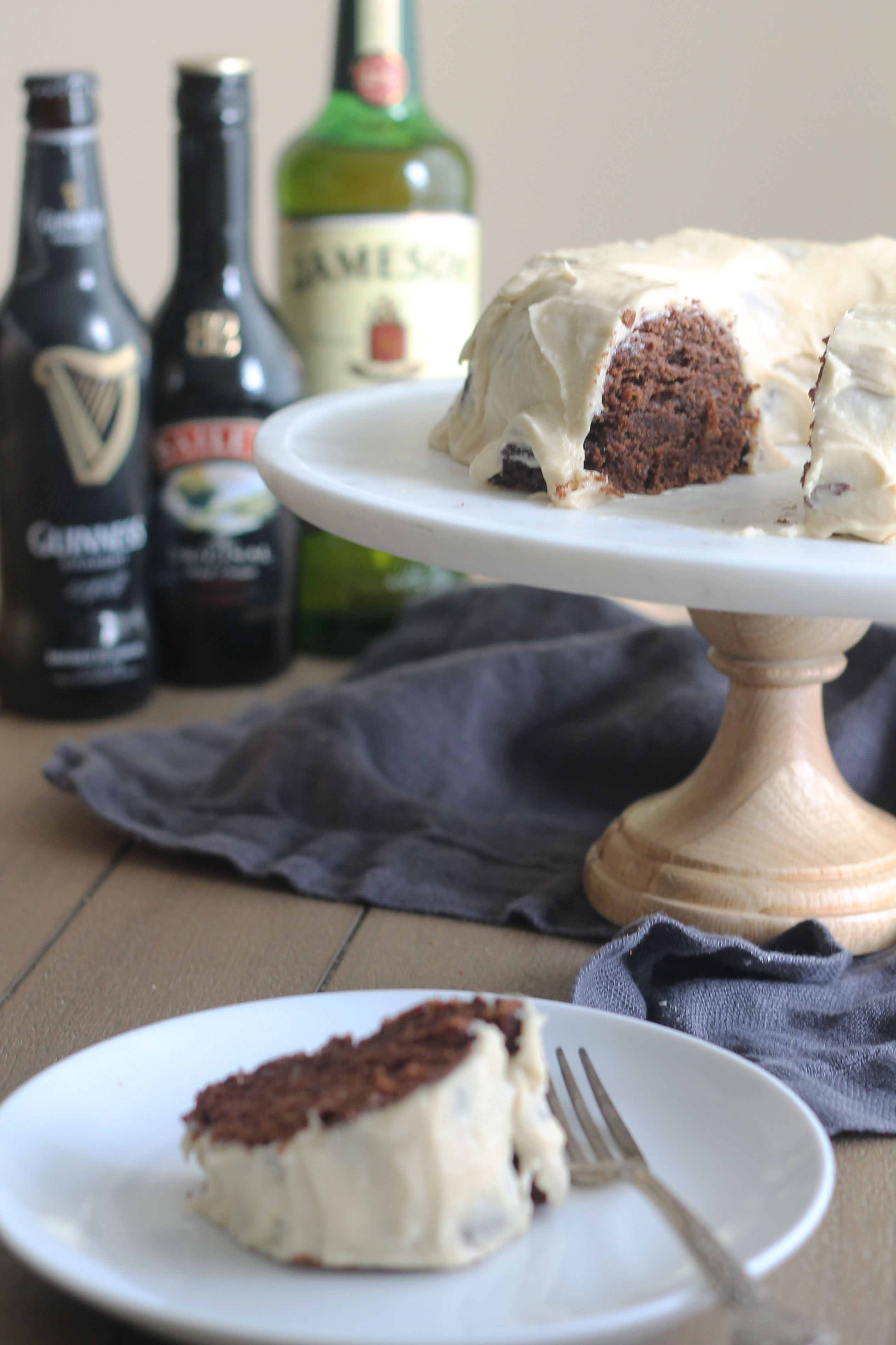 Whiskey, Guinness, Baileys OH MY Bundt Cake (Irish Car Bomb Cake)