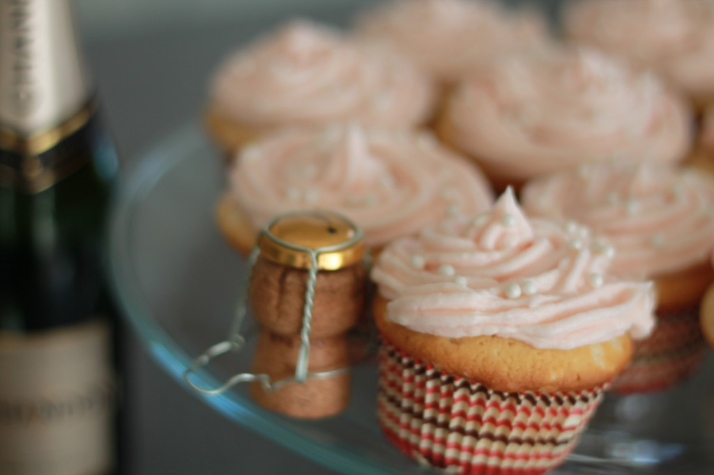 Champagne and Sprinkles Cupcakes