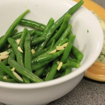Green Bean Almondine with Herb Butter