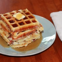 Bacon Cheddar Chive Waffles