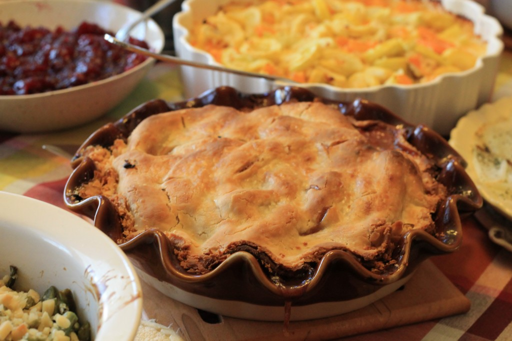 Apple Pie with meal