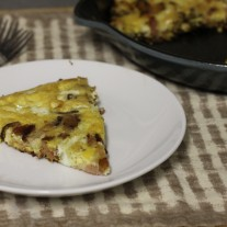 Bacon, Onion, Mushroom and Sage Frittata