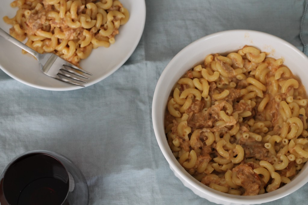 BBQ Pulled Pork Macaroni and Cheese