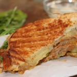 BBQ Pulled Pork, White Cheddar and Arugula Grilled Cheese