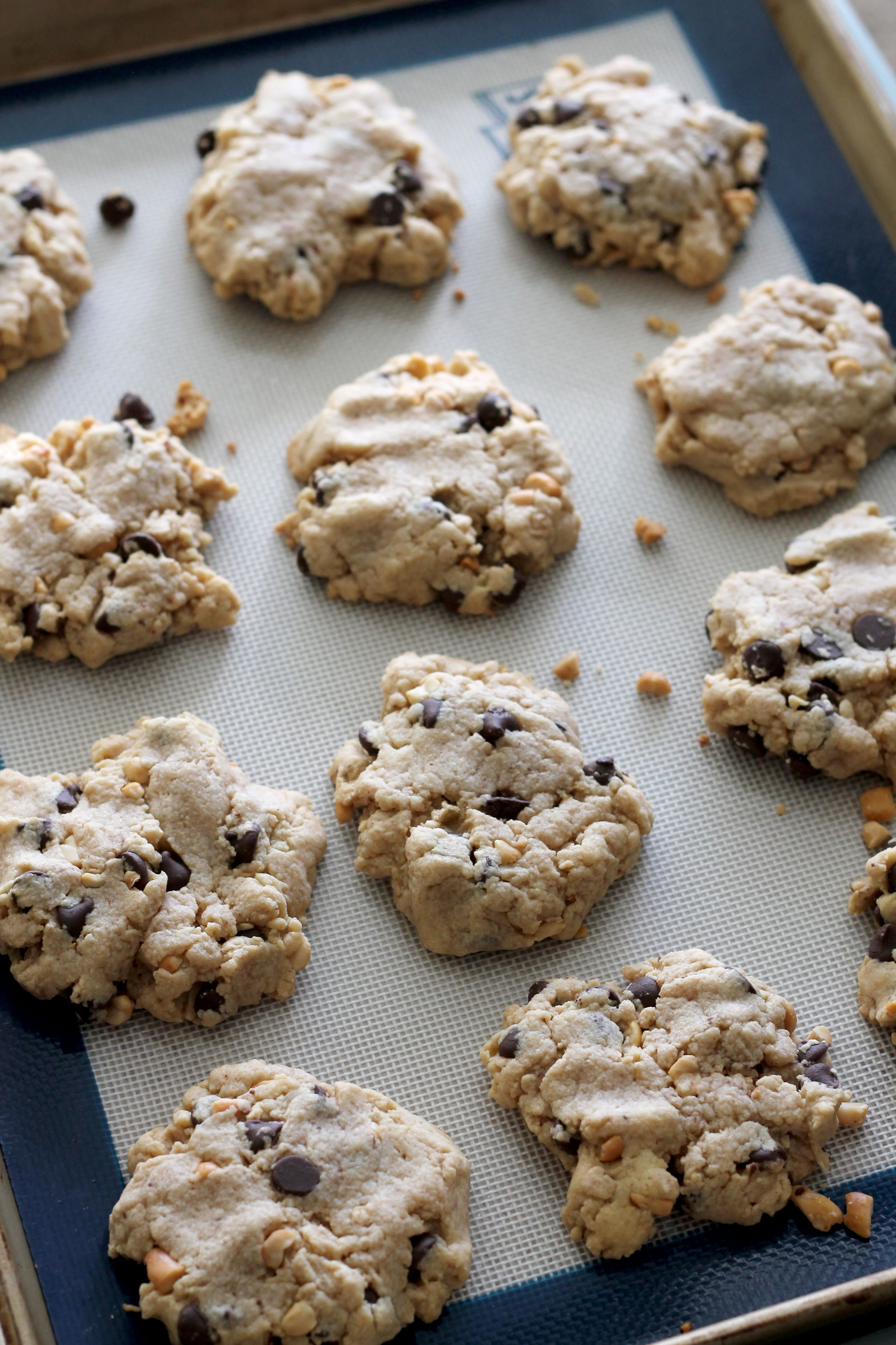 Peanut and Cookie Butter Chocolate Chip Cookies | Hall Nesting