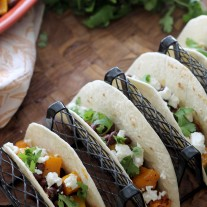Butternut Squash and Black Bean Tacos