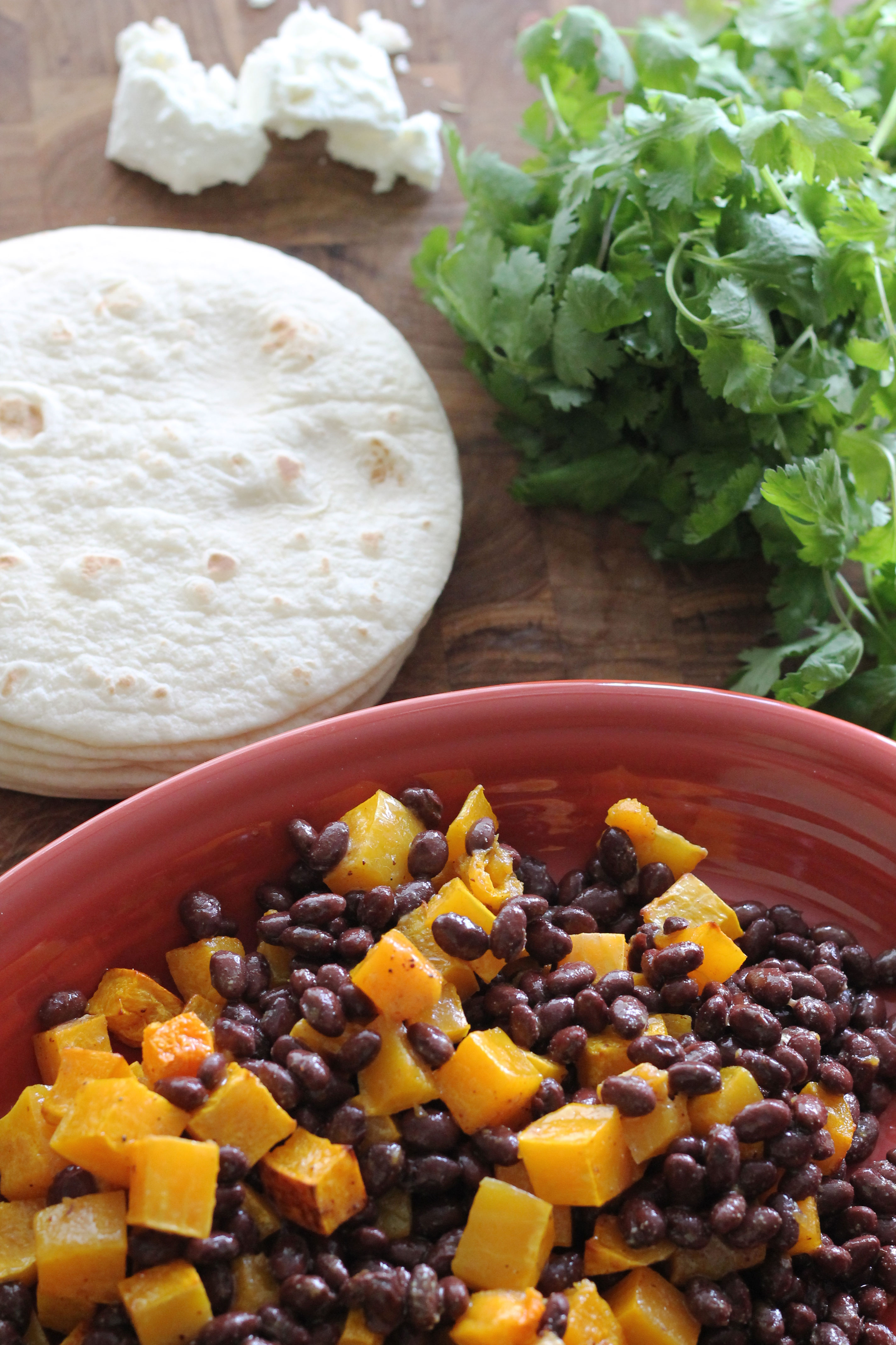 Butternut Squash and Black Bean Tacos - Hall Nesting