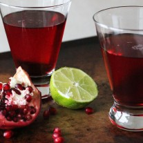 Pomegranate Lime Martini