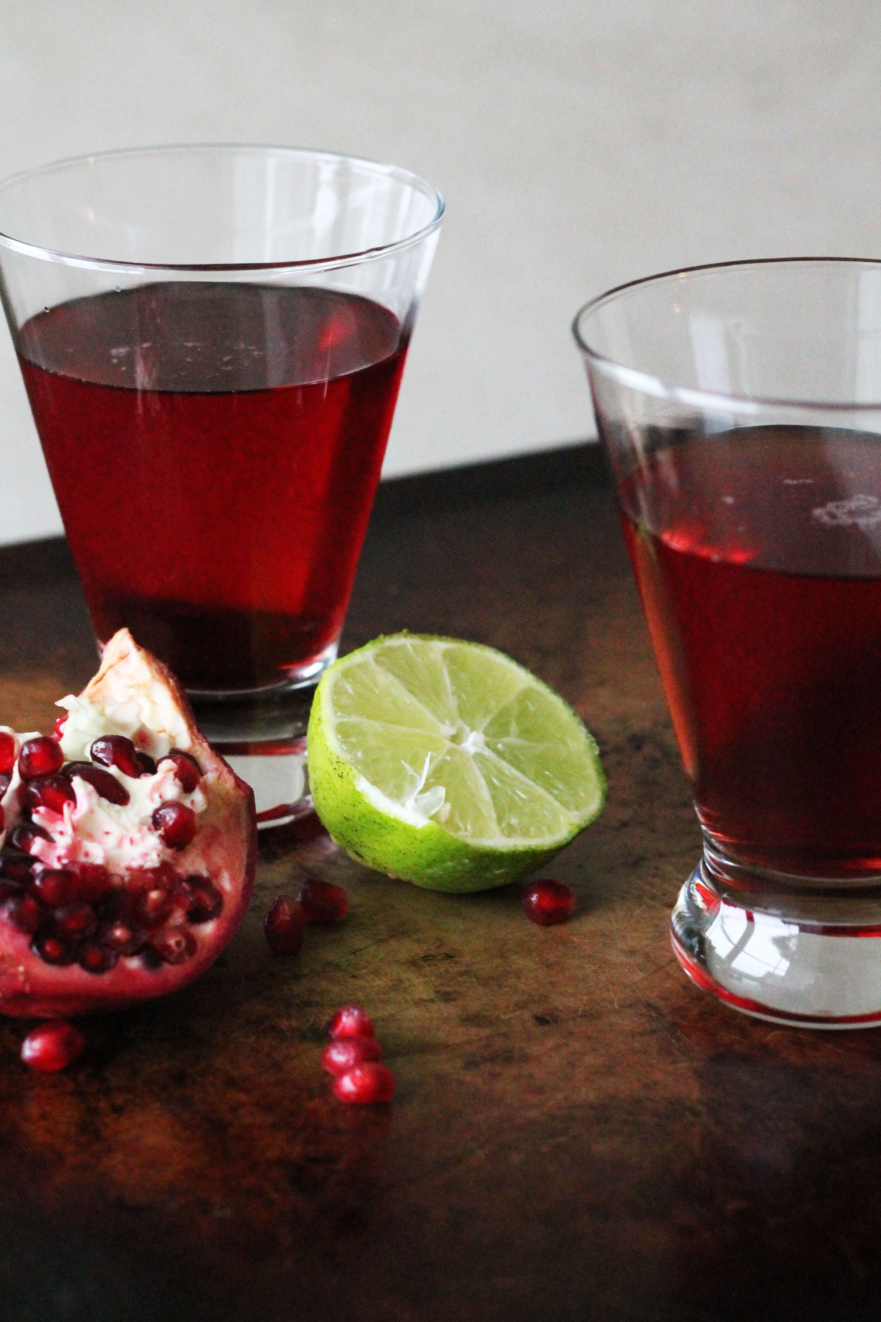 A festive and winter cocktail - Pomegranate Lime Martini