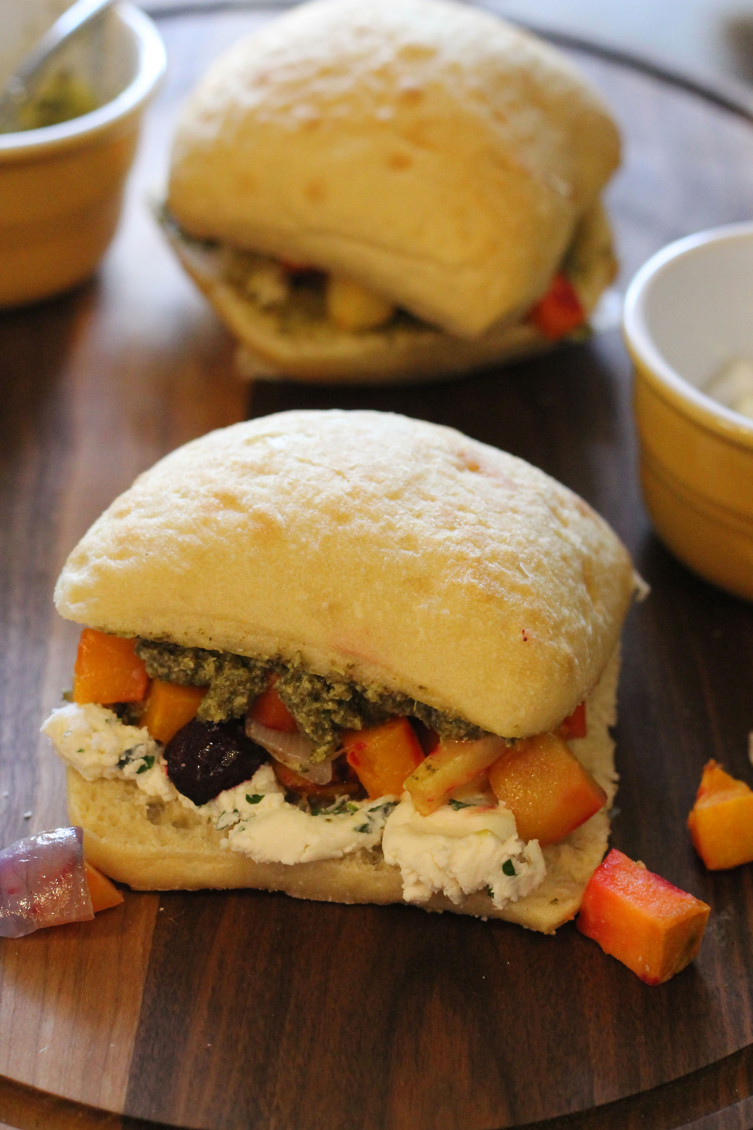 Winter Vegetable Sandwich with Pesto and Whipped Goat ...