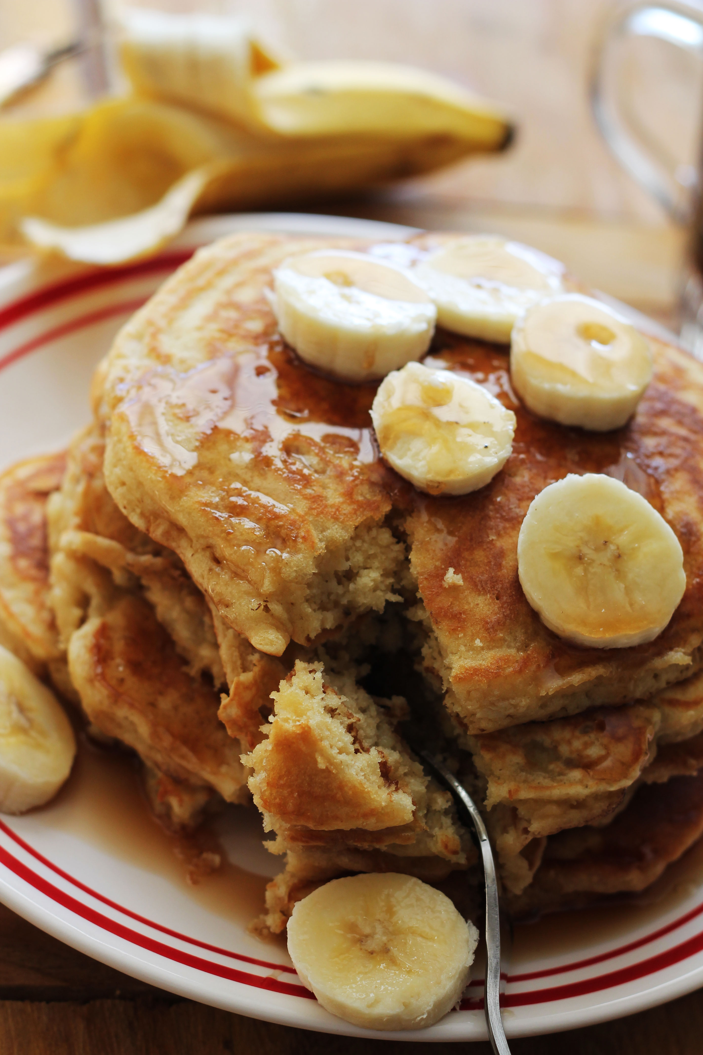Banana Pancakes - you will say YUM with every bite! | Hall Nesting