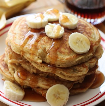 The best Banana Pancakes! Fluffy, light and the perfect way to start your day!