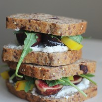 Beet, Fig, and Goat Cheese Sandwich