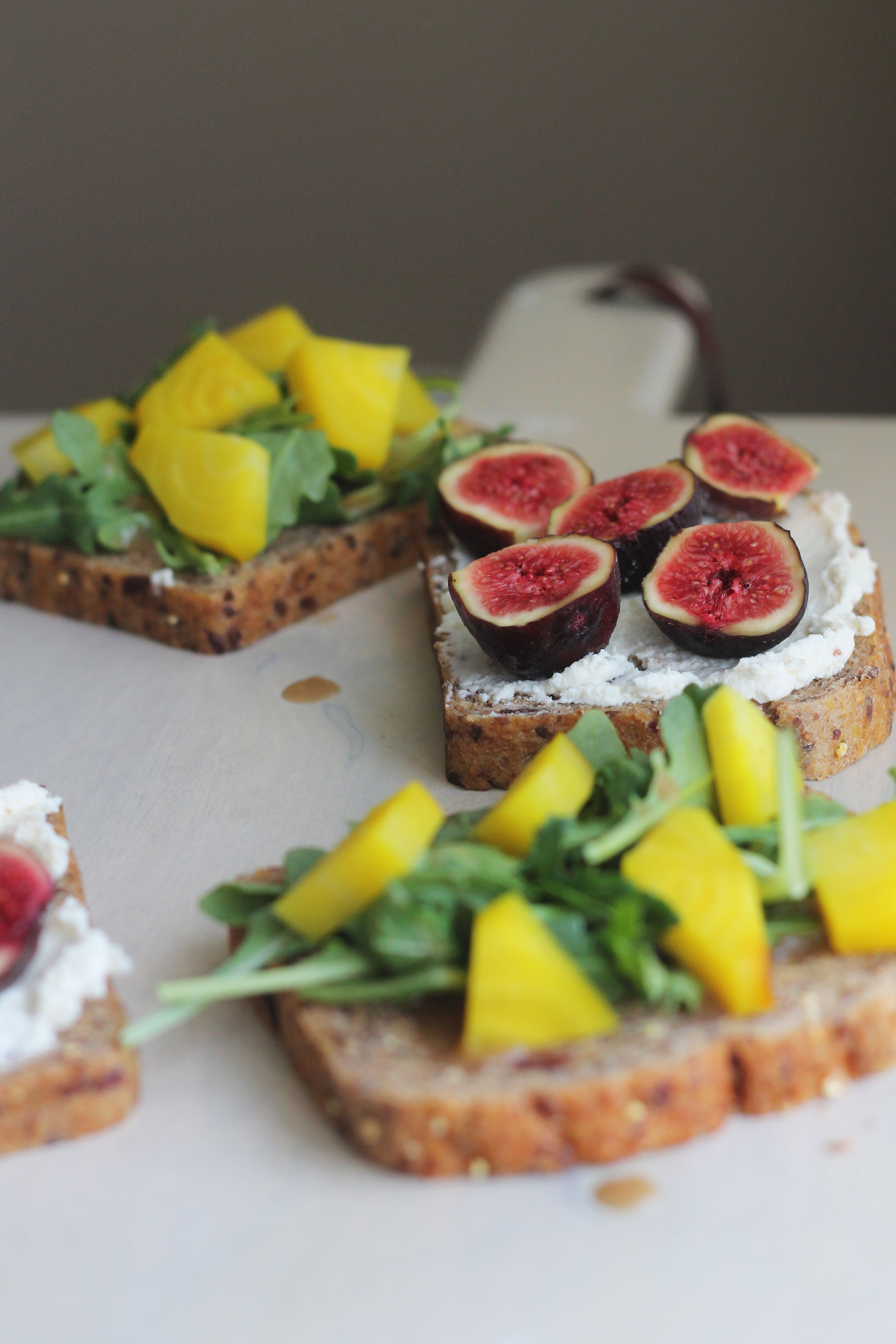 Meet your new favorite sandwich - Beet, Figs, and Goat Cheese
