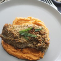 Pecan Crusted Snapper with Sweet Potato Puree