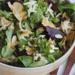 Apple Chip, Cheddar, and Almond Salad