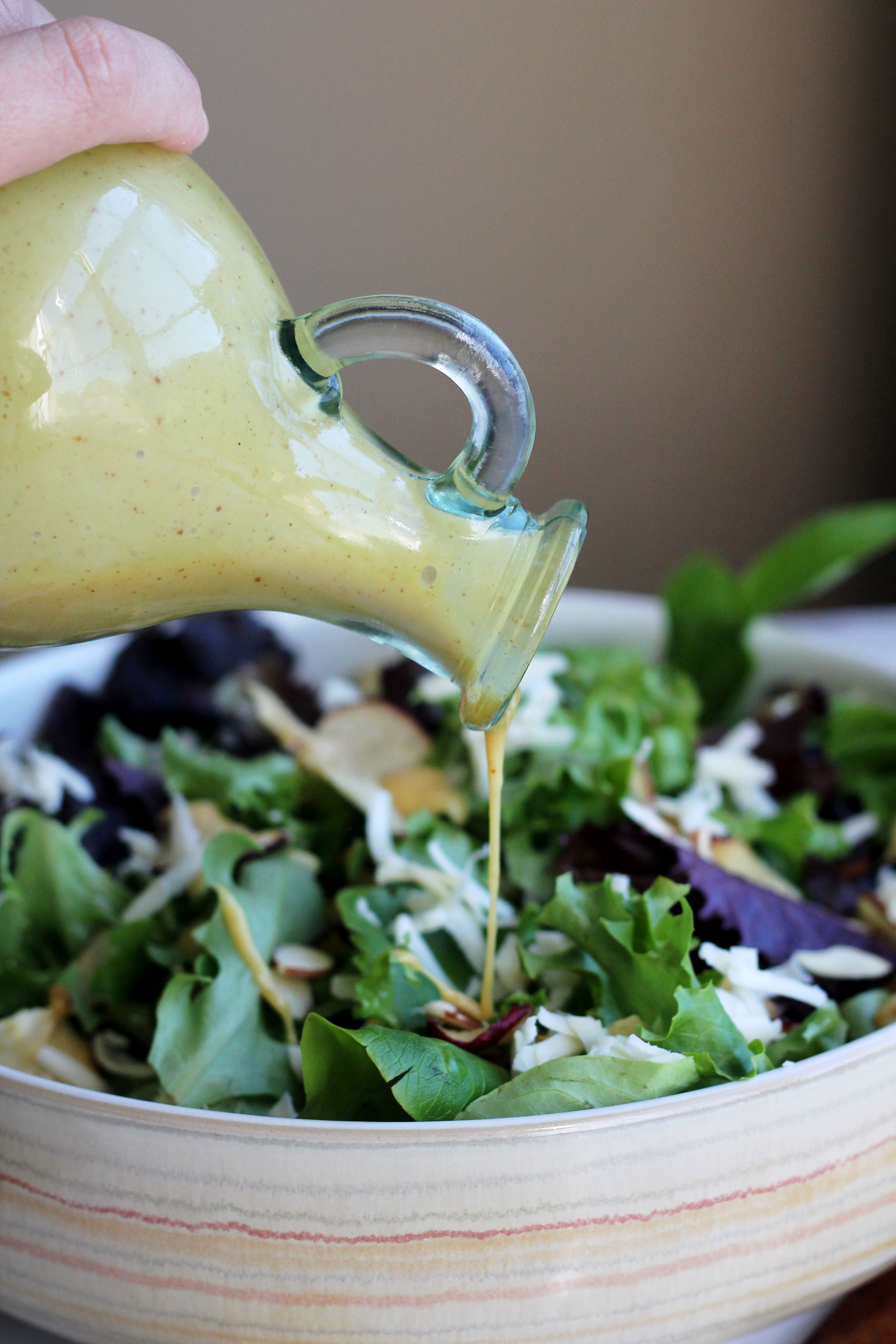 There is nothing better than a homemade salad dressing and the perfect salad!