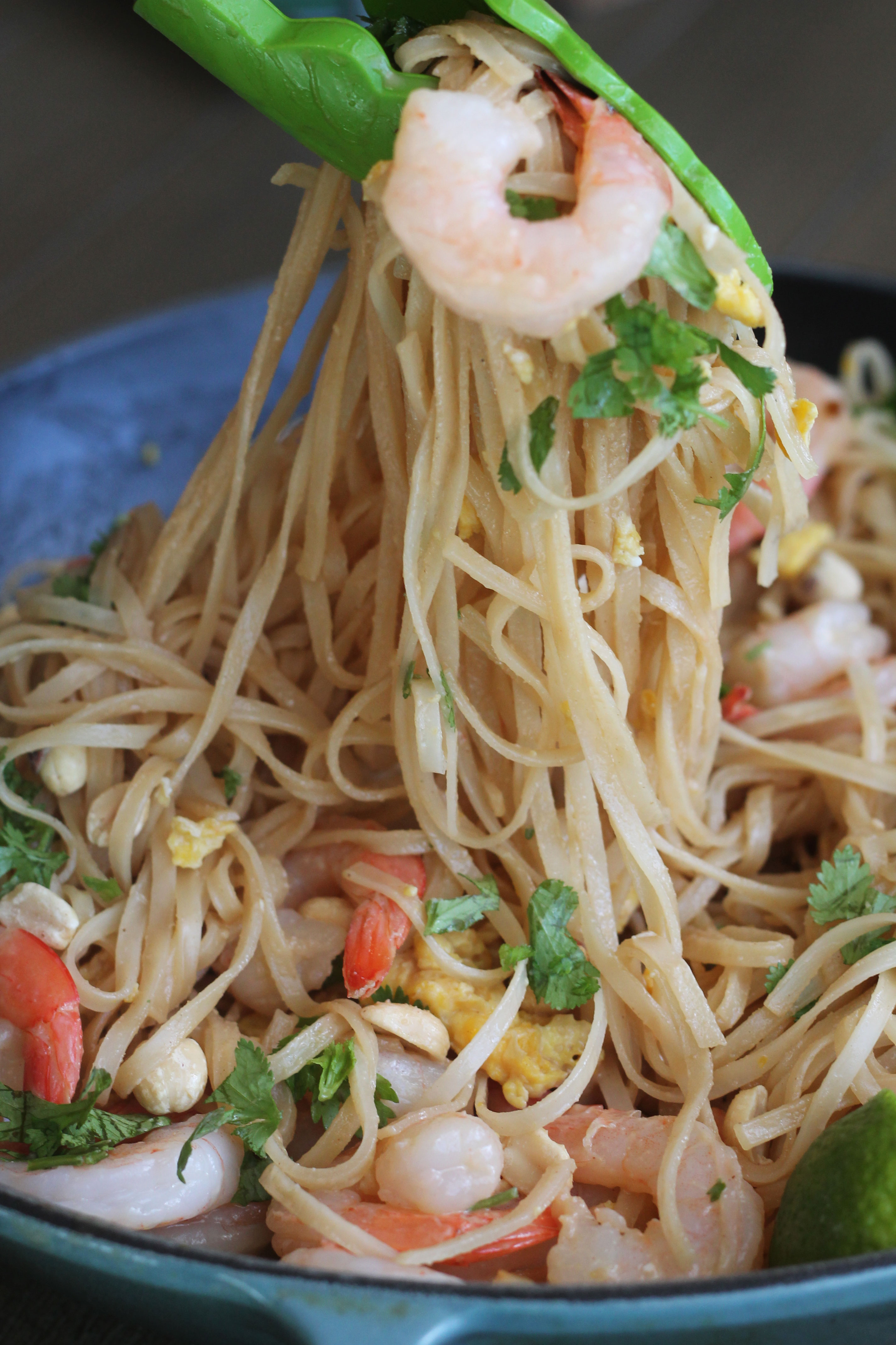 This restaurant style Shrimp Pad Thai can now be made in the comfort of your own home!