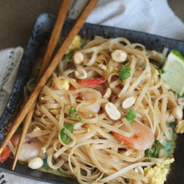 Make your favorite take out meal at home - this Shrimp Pad Thai will become your favorite!