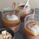Brown Sugar Bourbon Cocktail - bourbon, brown sugar simple syrup and fig preserves - this will be your new favorite drink!