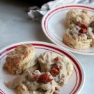 Maple Bacon Gravy and Homemade Buttermilk Biscuits you can find south of the Mason Dixon Line!
