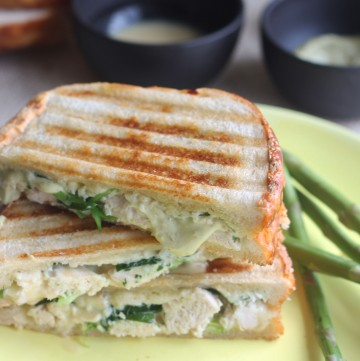 Amp up your boring sandwich by adding lots of cheese, spring veggies, and some chicken by making this Spring Chicken Panini!