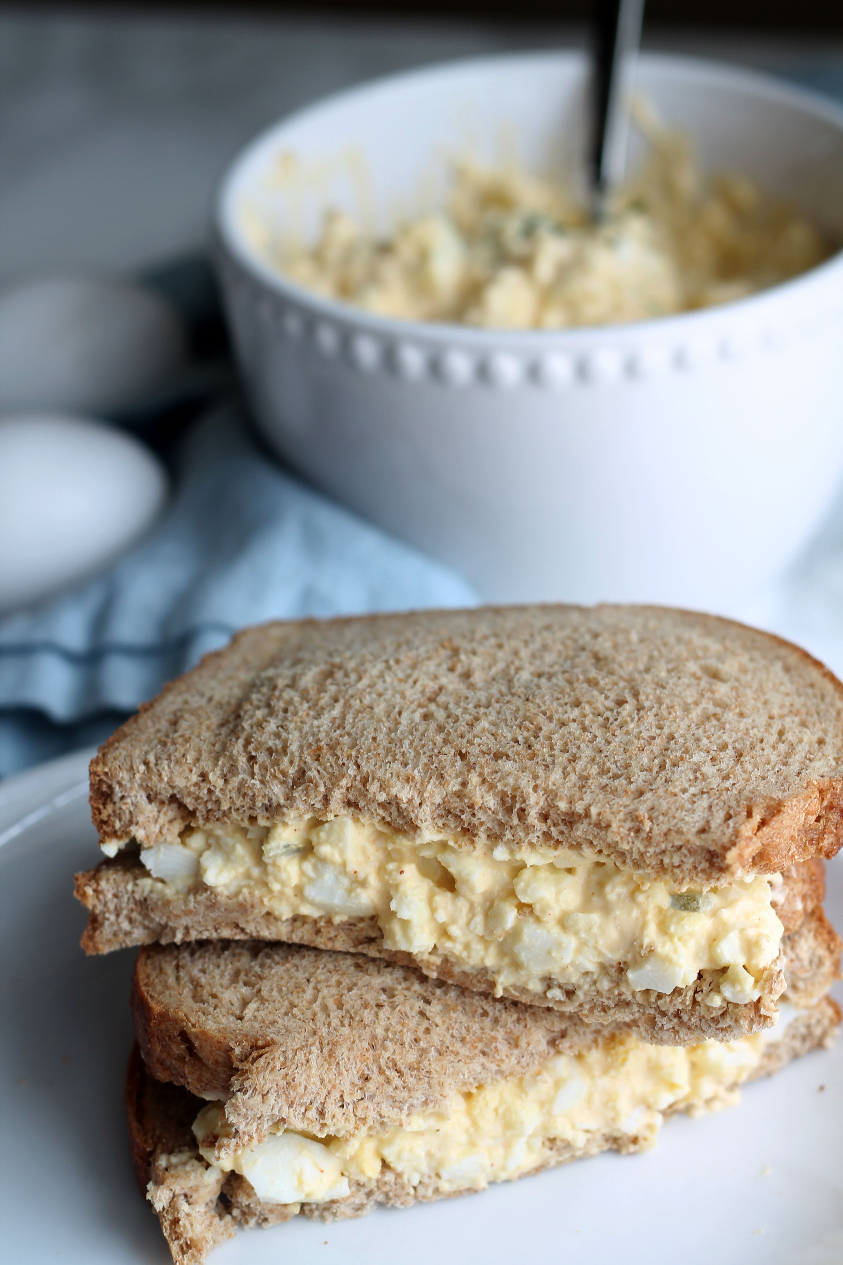 This egg salad is creamy, easy and delicious
