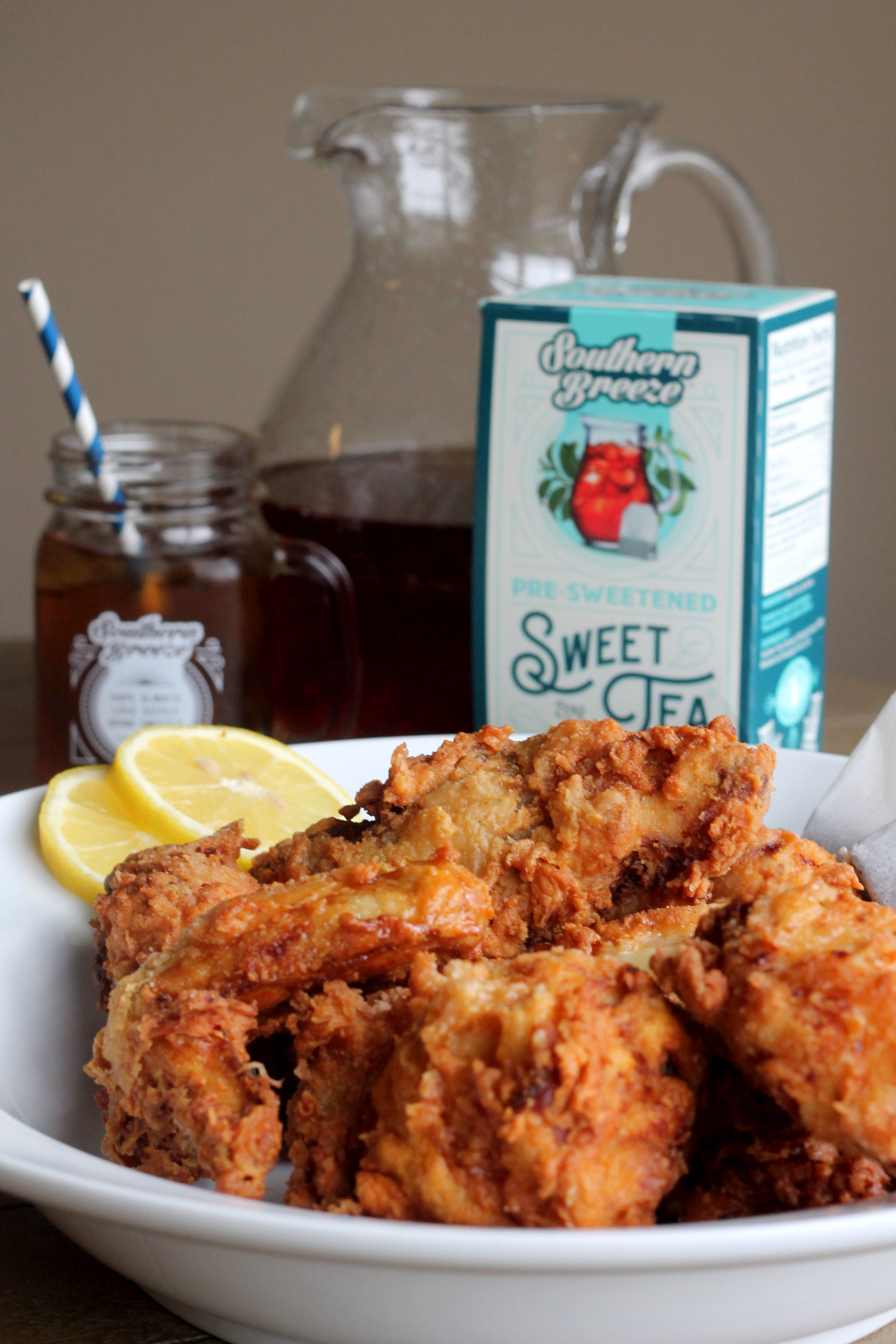 Nothing more Southern than sweet tea fried chicken and bourbon. So how about it all in one recipe?