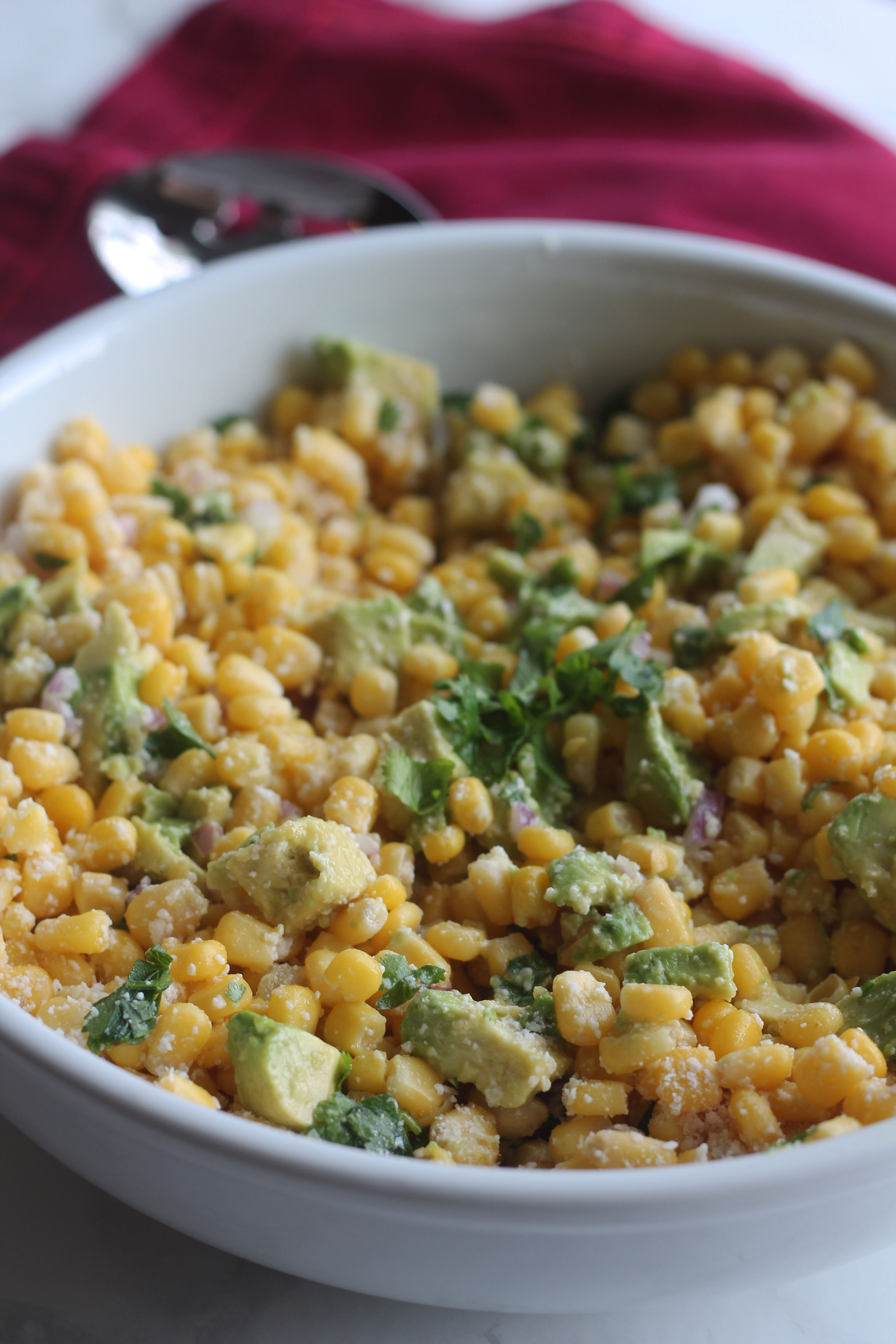 This Mexican corn salad is the perfect side for your summer get together