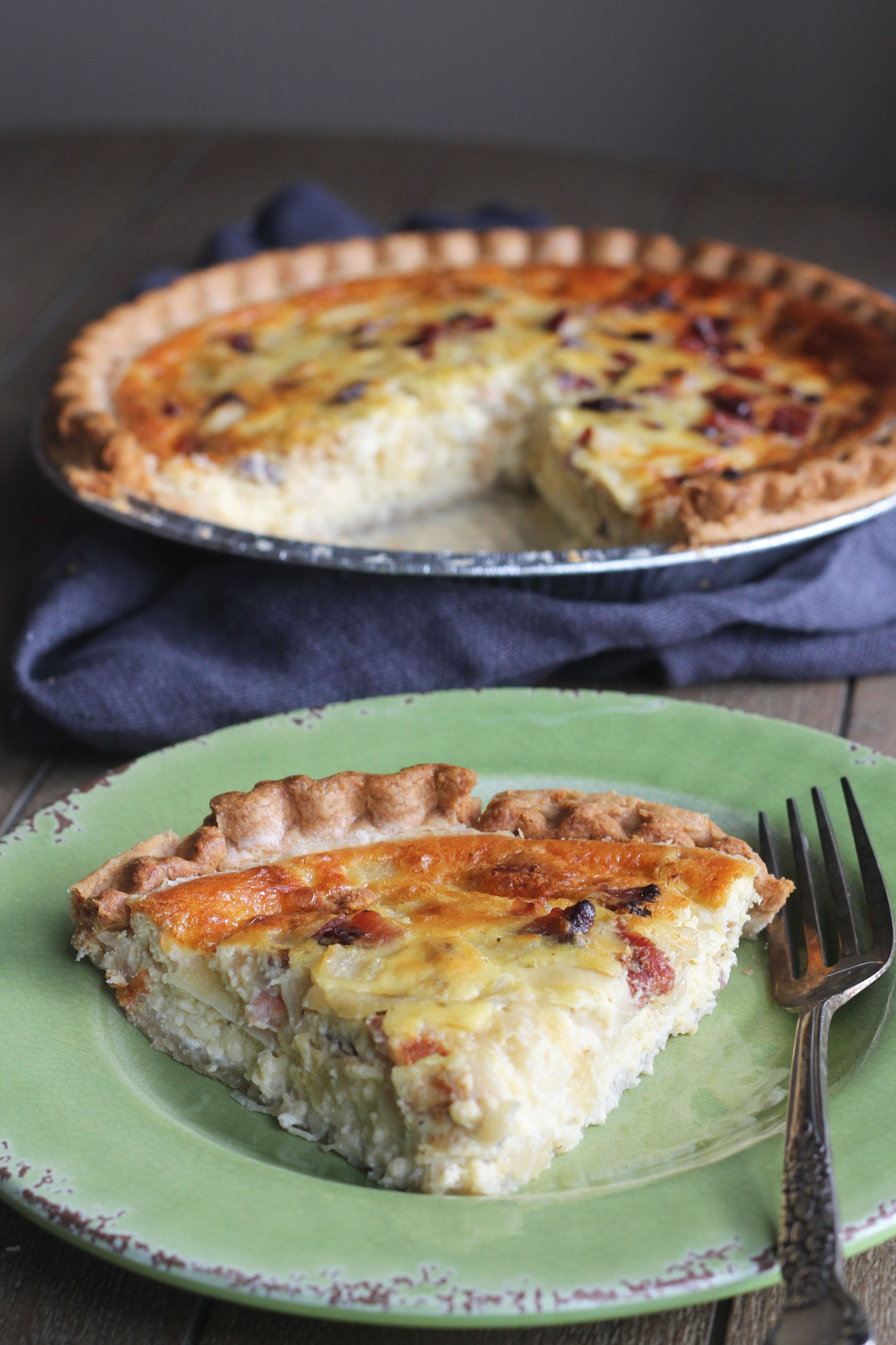A quiche that is perfect for breakfast, lunch, or dinner