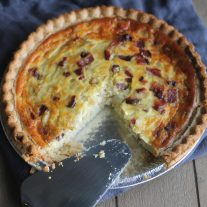 Caramelized Onion, Bacon and Gruyere Quiche