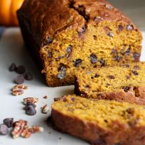 Pumpkin Pecan Chocolate Chip Bread