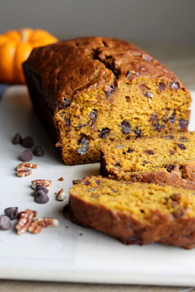 Pumpkin Pecan Chocolate Chip Bread - Hall Nesting