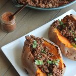 Mexican Sloppy Joe Sweet Potatoes