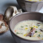 Creamy Chicken, Mushroom and Brie Soup
