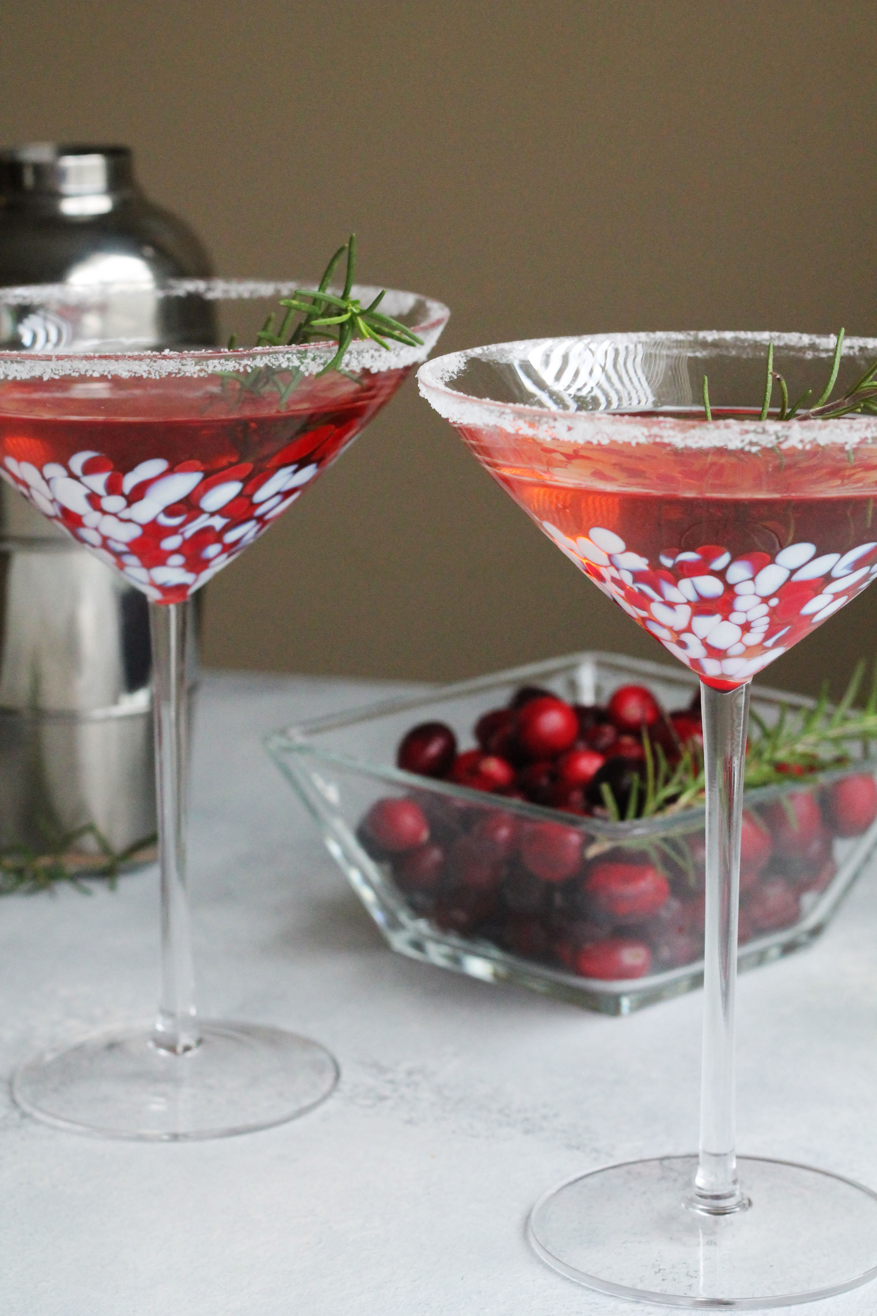 This Winter Cosmo is the perfect holiday cocktail