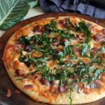 Black Eyed Peas, Collard Greens and Sausage Pizza
