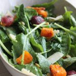 Roasted Grape, Butternut Squash and Kale Salad