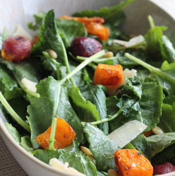 Roasted Grape and Butternut Squash Salad