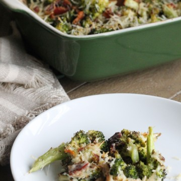Broccoli Gratin makes for an easy side dish