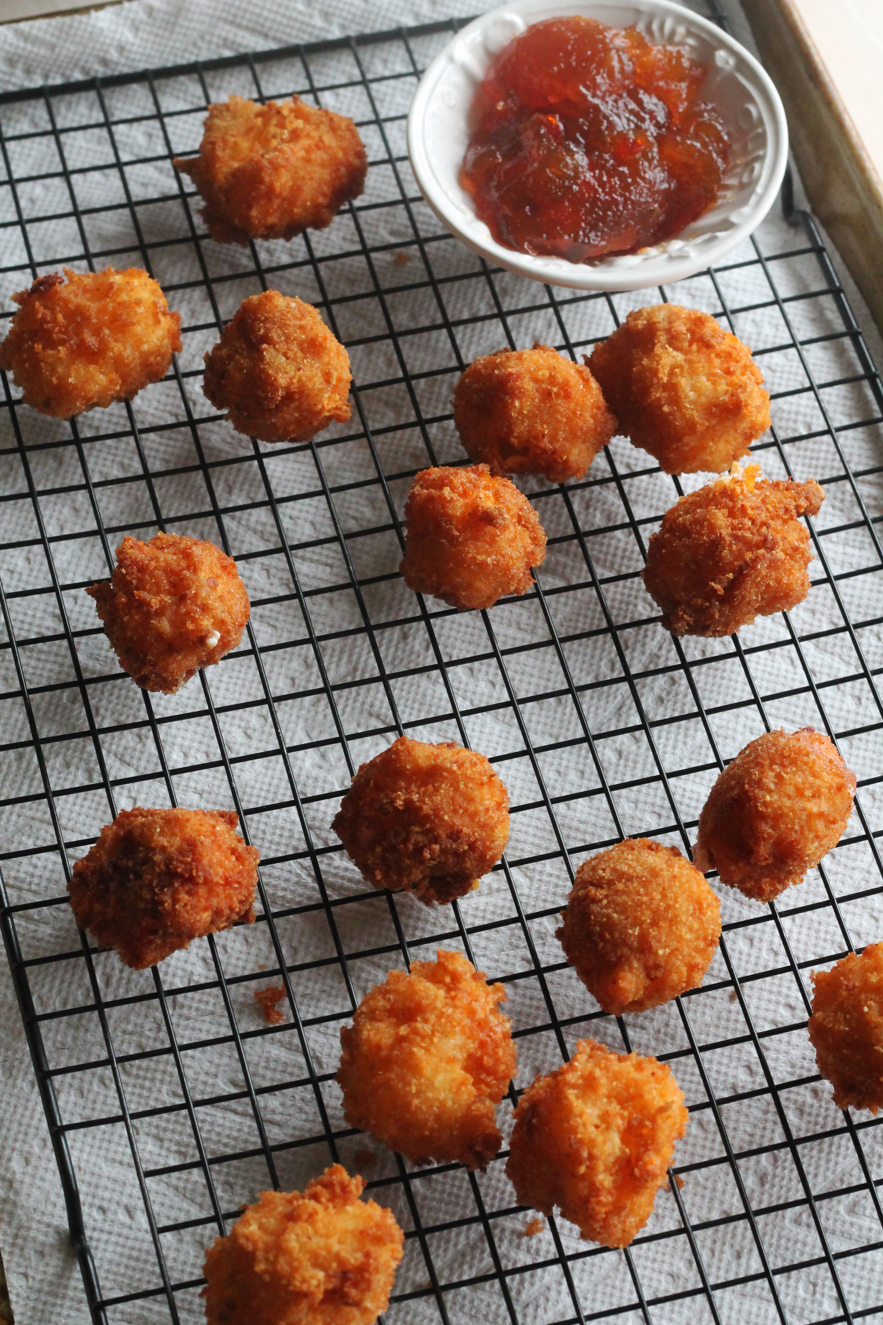 These Pimento Cheese Fritters and Pepper Jelly will be the hit at you next gathering