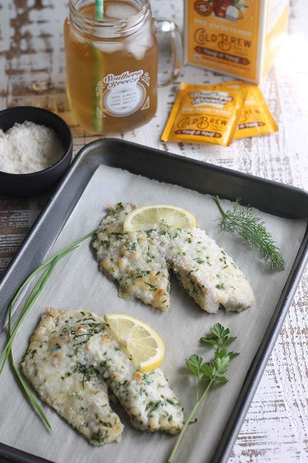 Parmesan Herb Tilapia with Southern Breeze Cold Brew