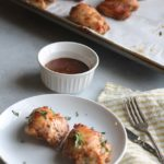 The juciest and most flavorful BBQ honey mustard chicken thighs